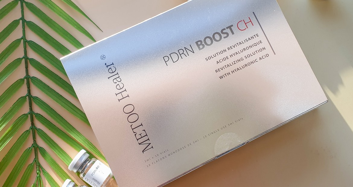 Metoo Healer PDRN Booster made by Maypharm. Anti-aging skin revitalizer complexed with vitamins, amino acids, coenzymes, nucleic acids, minerals, antioxidant. Meso therapy, hyaluronic acid for young skin.