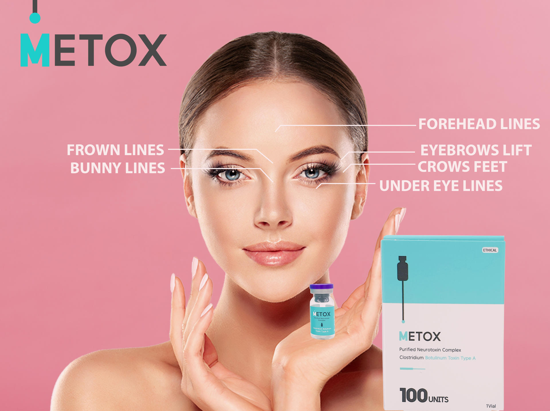 Metox Purified Toxin Type A Maypharm toxin 100 units injections wrinkle #maypharmtox Me too Filler toxins fillers face lips forehead fillers forehead